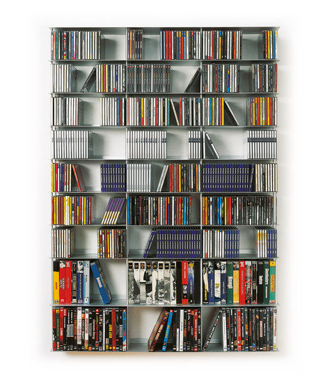 Krossing CDs and DVDs holder by Kriptonite | Shelving