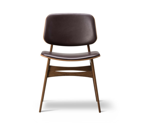 Søborg Wood Base - seat and back upholstered de Fredericia Furniture | Sillas