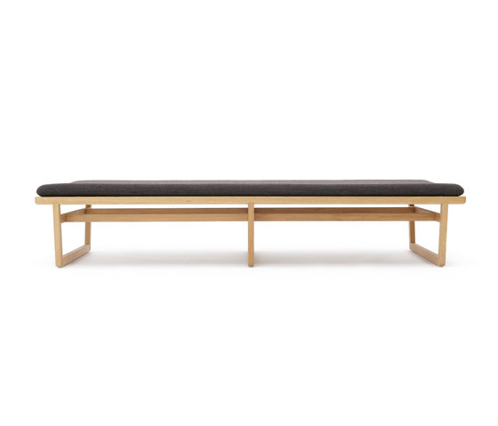 Oak bench large by Bautier | Waiting area benches