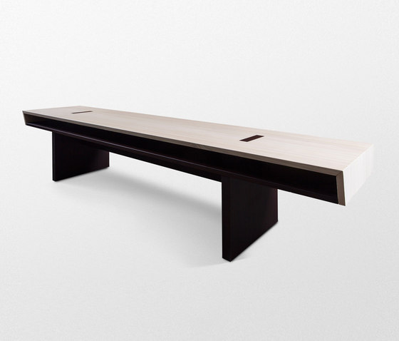 Double Bench without backrest de Trentino Wood & Design | Bancos