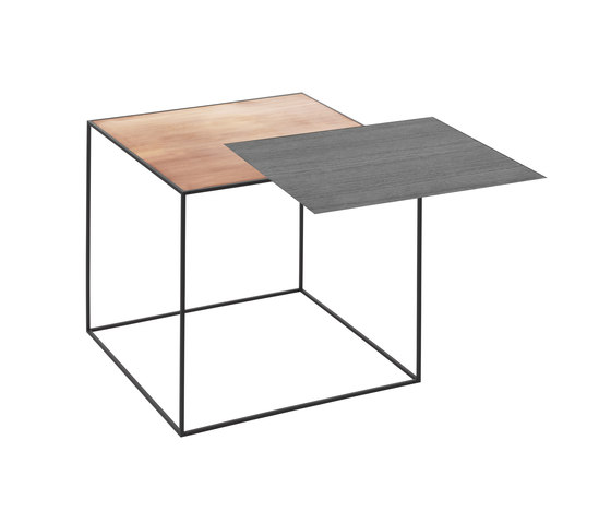 Twin Table black-stained ash/copper by by Lassen | Side tables