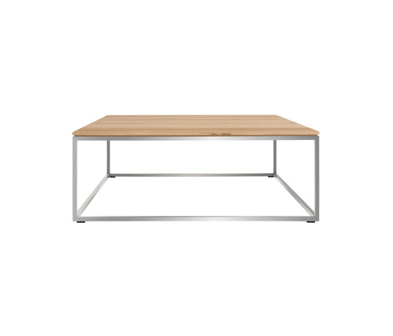 Oak thin coffee table lounge tables from ethnicraft for Coffee table 80 x 80