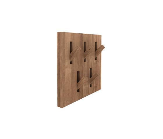 teak utilitile hooked towel hooks from ethnicraft. Black Bedroom Furniture Sets. Home Design Ideas