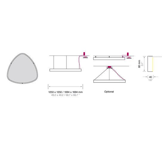 Soft Delta Light + Acoustic von Sattler | Allgemeinbeleuchtung