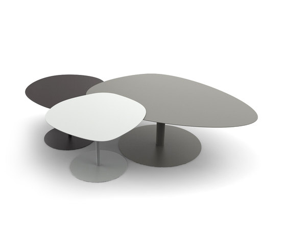 Galet xl combination coffee tables from mati re grise - Table basse grise laquee ...