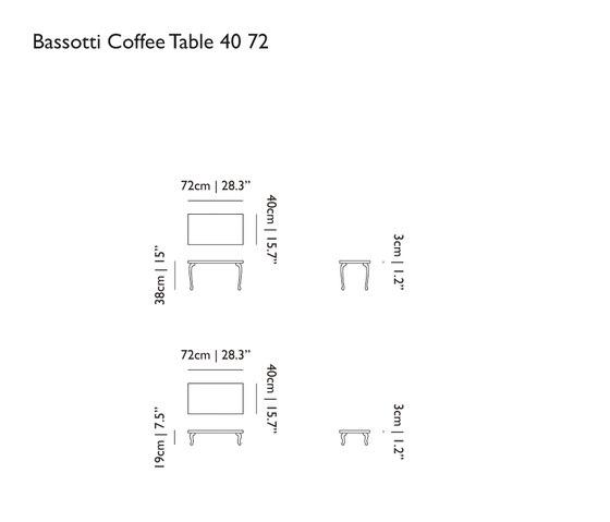 bassotti coffee table von moooi   Beistelltische