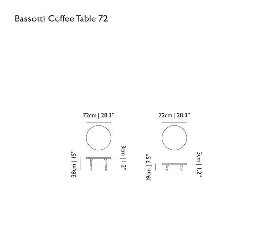 bassotti coffee table von moooi | Beistelltische