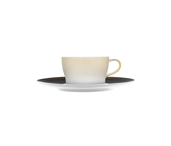AURÉOLE CLAIR DE LUNE Tea/Cappuccino cup, saucer by FÜRSTENBERG | Dinnerware