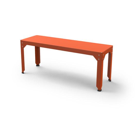 Hegoa bench S de Matière Grise | Bancos