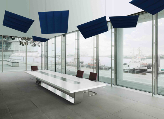 ECOwall ceiling by Slalom | Sound absorbing objects