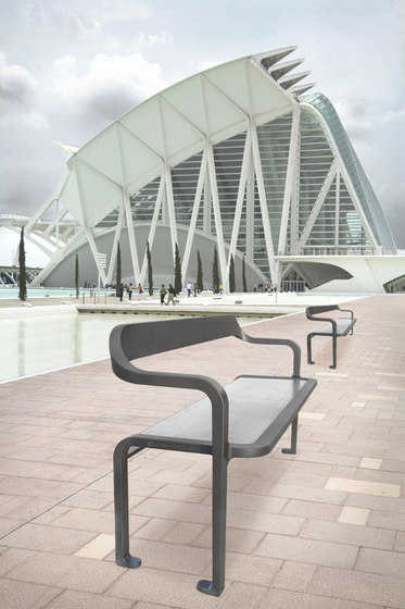Imawa bench armchair by Concept Urbain   Benches
