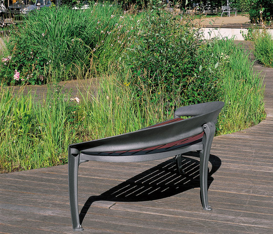 Nastra wooden low backless bench by Concept Urbain | Benches