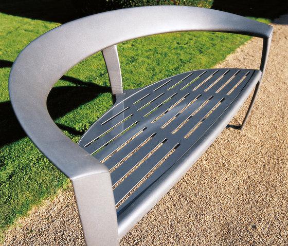 Nastra metal bench by Concept Urbain | Benches
