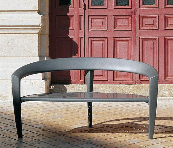 Nastra metal bench de Concept Urbain | Bancos