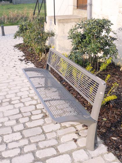 Vesta mesh bench by Concept Urbain | Benches