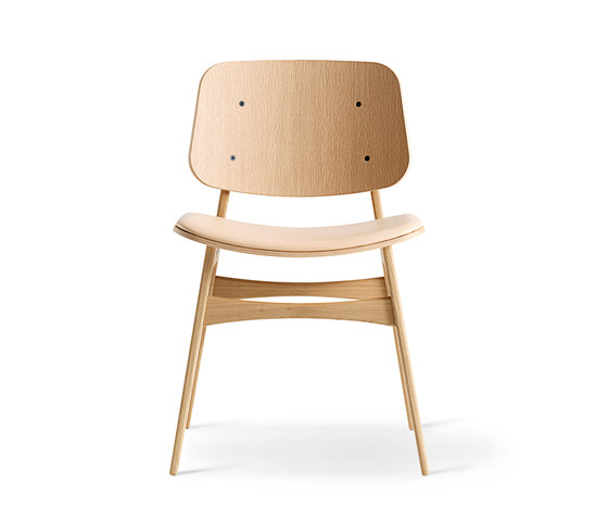 Søborg Wood Base - seat upholstered de Fredericia Furniture | Sillas