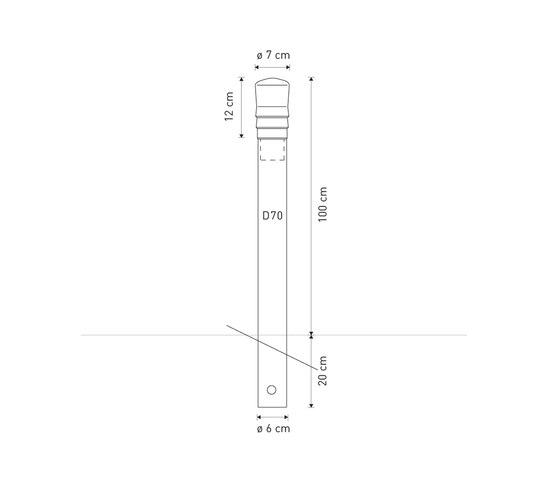 Vesta post D70 by Concept Urbain | Bollards