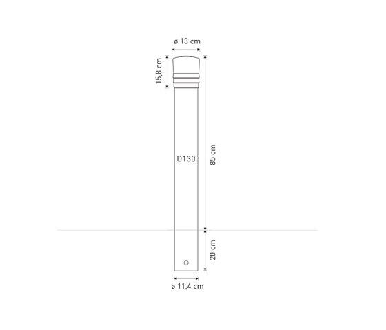 Vesta post D130 by Concept Urbain | Bollards