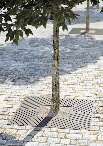 Tecna tree grate by Concept Urbain   Tree grates / Tree grilles