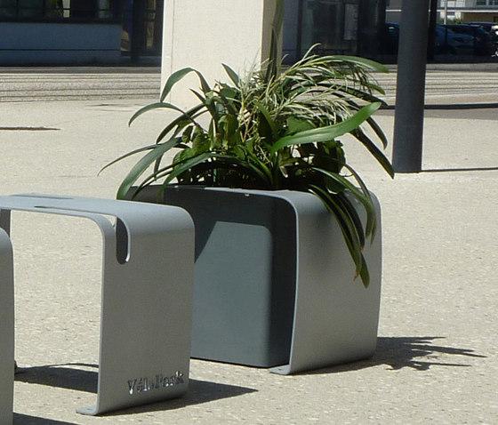 Vélopark planter unit by Concept Urbain | Plant pots