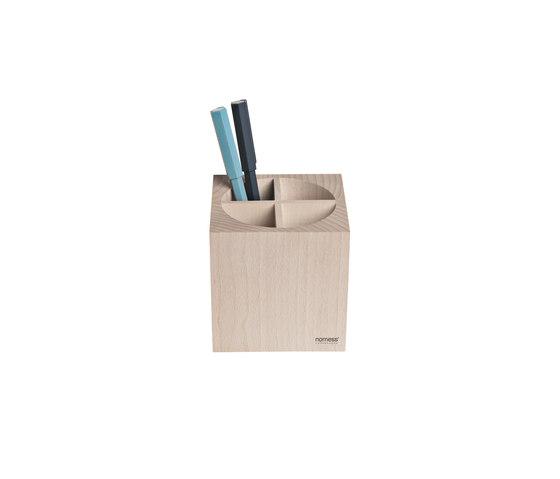 Wooden pen cup by nomess copenhagen | Pen holders