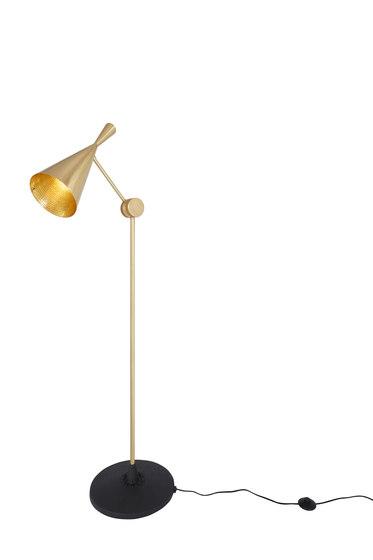Beat Floor Light Brass by Tom Dixon | Free-standing lights