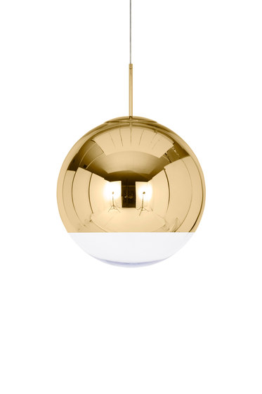 Mirror Ball Pendant Gold 50cm by Tom Dixon | Suspended lights