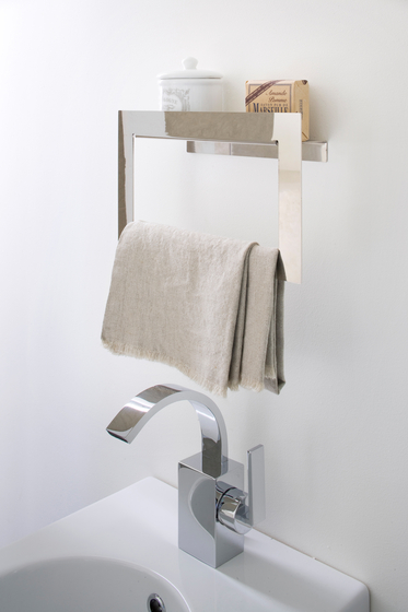 Kiri by arlex italia hook towel rack shelf shelves - Petite etagere salle de bain ...