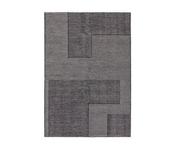 Stripe Rug Rectangular Black and White von Tom Dixon | Formatteppiche