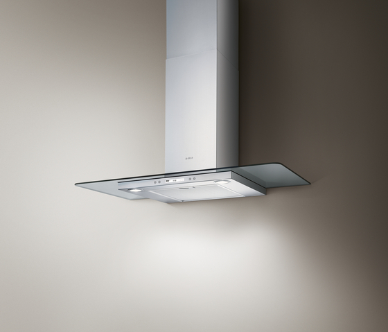 FLAT GLASS PLUS wall mounted by Elica | Kitchen hoods