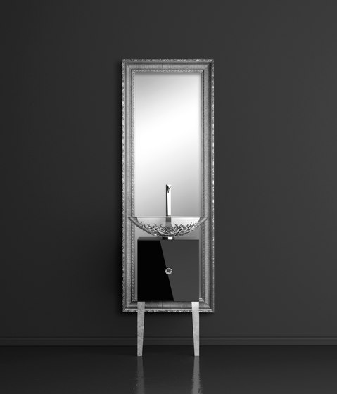 Monnalisa Class Ice Oval by Glass Design   Vanity units