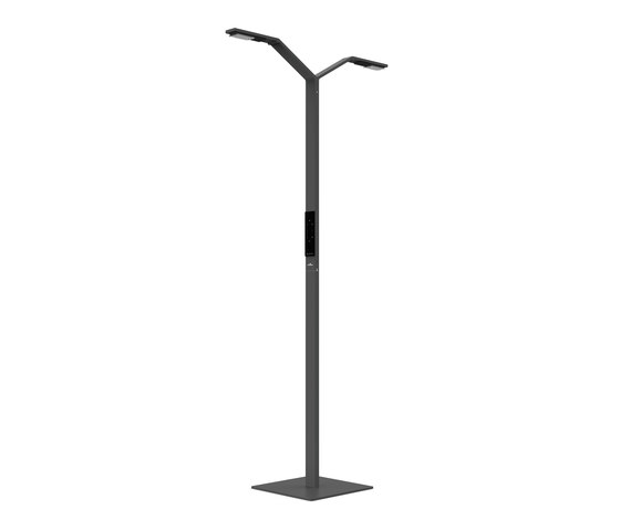 FLOOR TWIN LINEAR black by LUCTRA | Free-standing lights