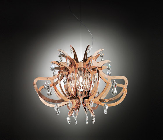 Lillibet Copper suspension by Slamp | Suspended lights