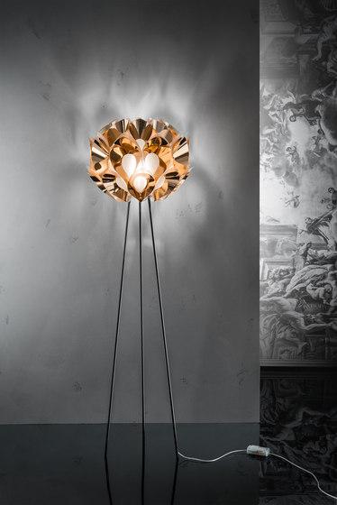 Flora Copper floor by Slamp | Free-standing lights
