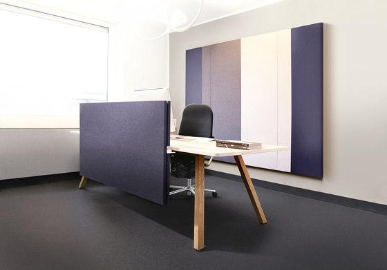 Connect table solutions de acousticpearls | Separadores de mesa