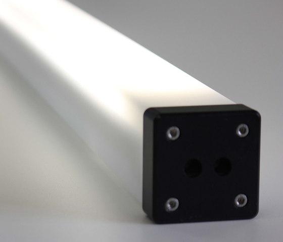 Rectangular Rechteckrohrleuchte de BURRI | Éclairage public