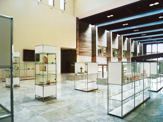 USM Haller Glass showcase 3 by USM | Display cabinets