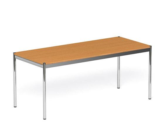 usm haller table wood by usm long product. Black Bedroom Furniture Sets. Home Design Ideas