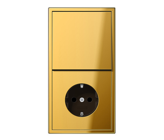ls 990 goldfarben schalter steckdosenkombination stecker. Black Bedroom Furniture Sets. Home Design Ideas