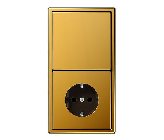 ls 990 gold 24 karat schalter steckdosenkombination. Black Bedroom Furniture Sets. Home Design Ideas