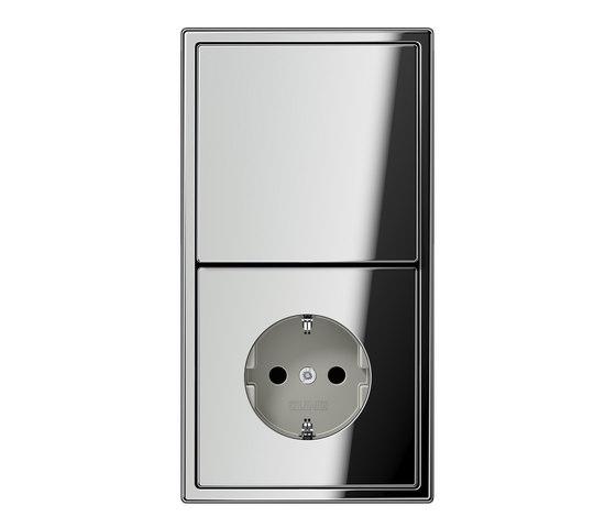 ls 990 glanzchrom schalter steckdosenkombination stecker schalter kombinationen schuko von. Black Bedroom Furniture Sets. Home Design Ideas