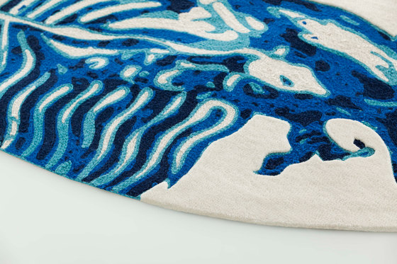 Blue China Rug White 2 by GAN | Rugs