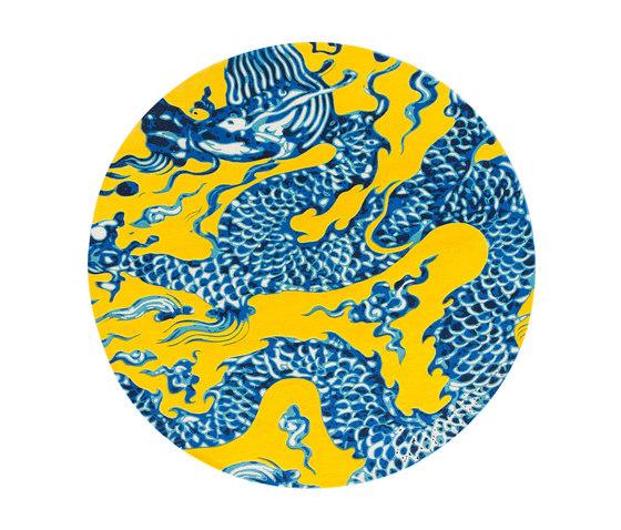 Blue China Rug Amarillo 1 de GAN | Alfombras / Alfombras de diseño
