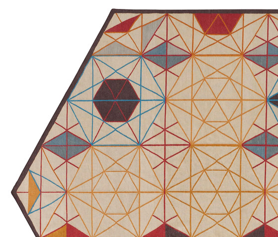 Hexa Rug Naranja 1 de GAN | Alfombras / Alfombras de diseño