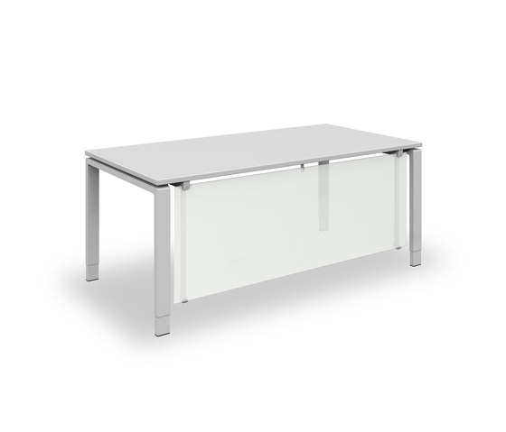 Solos table system by Assmann Büromöbel   Contract tables