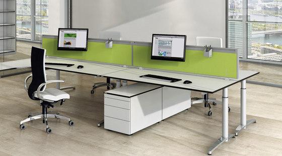 Viteco Stellwandsystem von Assmann Büromöbel | Tischpaneele