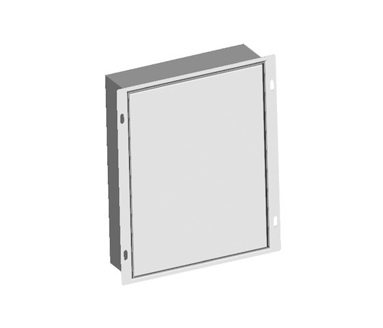 KWC ONO touch light PRO Installation and inspection box, stainless|consists of intallation box, frame an by KWC | Concealed elements