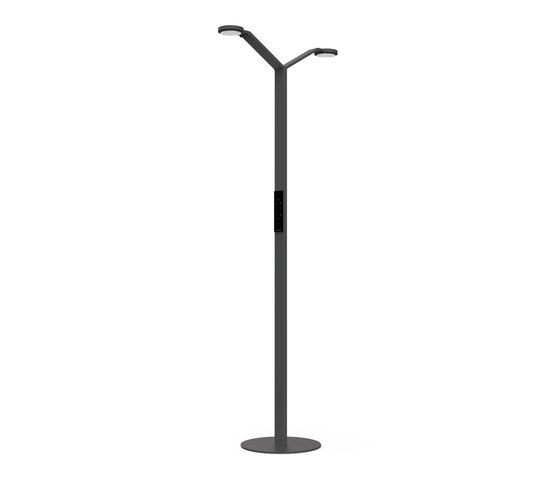 FLOOR TWIN RADIAL black by LUCTRA | Free-standing lights