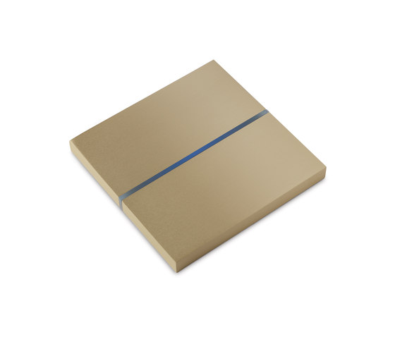 Sentido switch - brushed brass - 2-way by Basalte | KNX-Systems