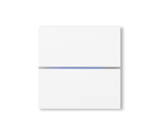 Sentido switch - satin white - 2-way by Basalte | KNX-Systems